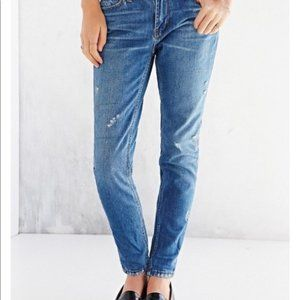 UO BDG Distressed Slim Fit Boyfriend Jeans